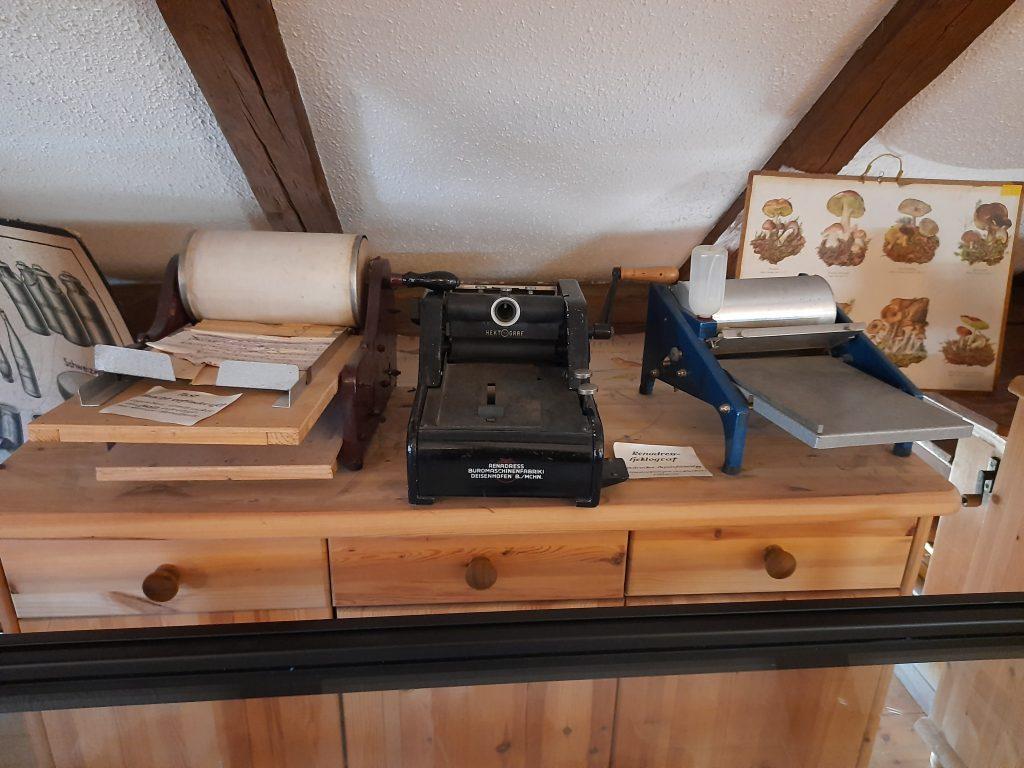 Bild von alten Druckmaschinen