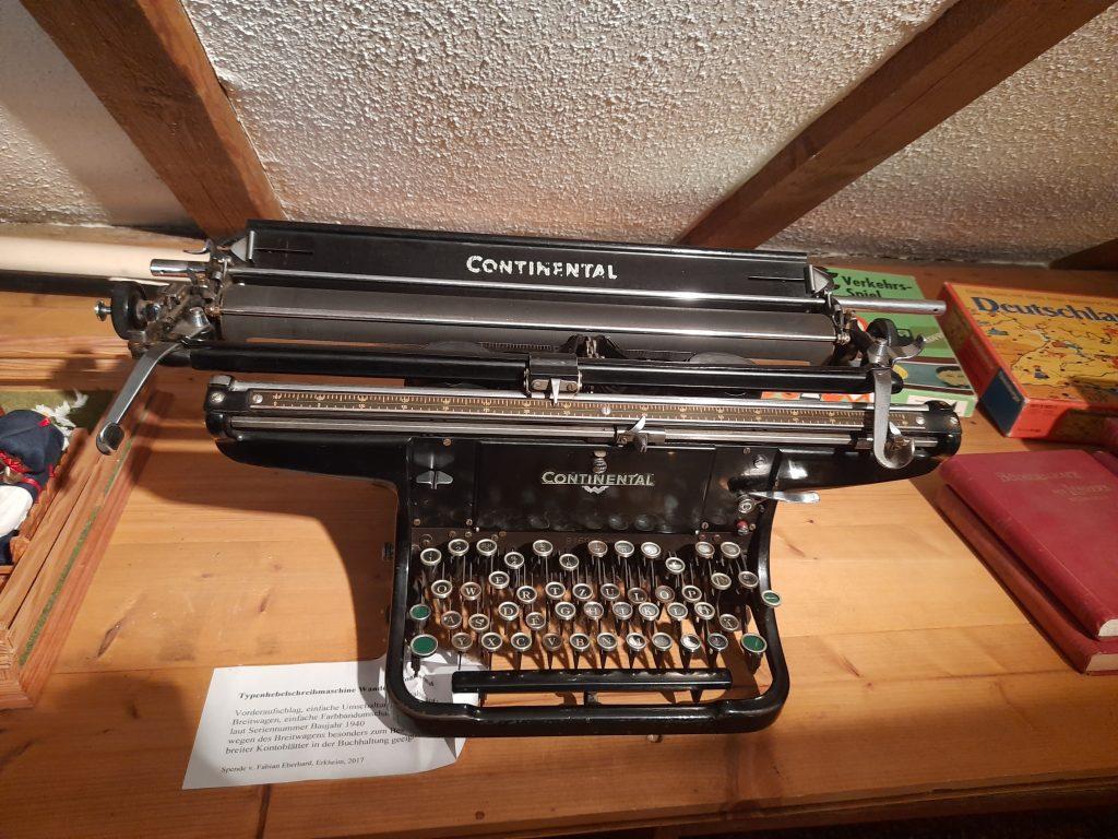 Bild von einer Continental Schreibmaschine